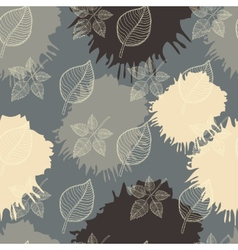 Autumn seamless pattern leaf vector image