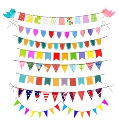 Bunting set vector image