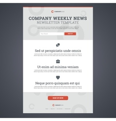 Company news newsletter template vector