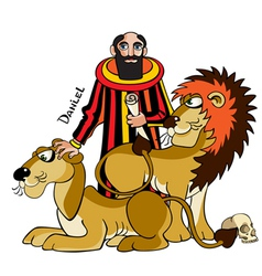 Daniel and lions vector