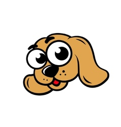 Dog face sign vector image vector image