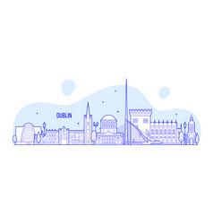 Dublin skyline ireland buildings city vector