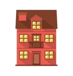 facade confortable residence with balcony vector image vector image