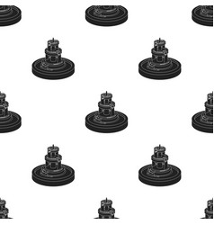 Fountain icon in black style isolated on white vector