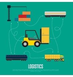 Global logistics and transportation banner vector