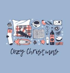 Hand drawn cozy christmas creative vector