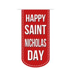 happy saint nicholas day banner design vector image