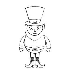 Leprechaun sad cartoon st patricks day character vector