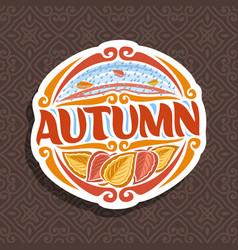 Logo for autumn season vector