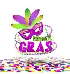 Mardi gras or shrove vector