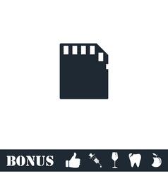 Memory card icon flat vector image vector image