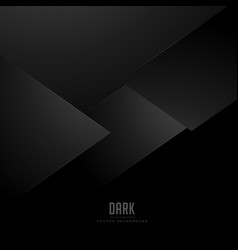 Minimal black background with abstract shapes vector
