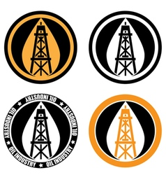 Oil derrick logo vector