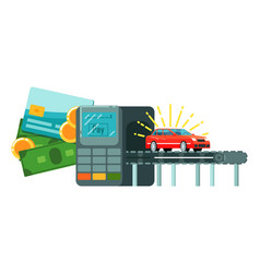Online rent citycar payment service icon vector