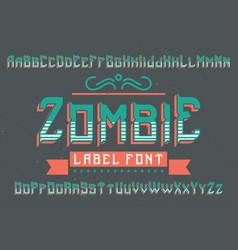Original label typeface vector