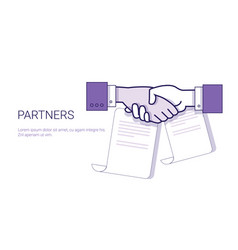 partners handshake icon business concept vector image vector image