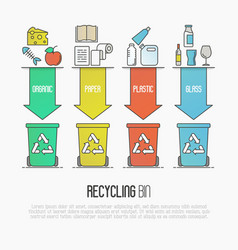 recycling ecological concept vector image vector image