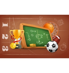 School game and strategy background vector image vector image