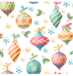 Seamless christmas decoration pattern vector