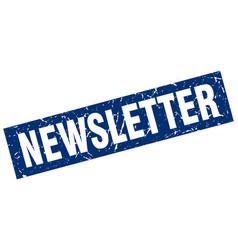 Square grunge blue newsletter stamp vector