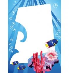 underwater vector image vector image