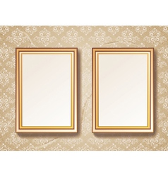 Vintage gold picture frame vector image