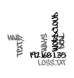 Ways to deal with hair loss text word cloud vector