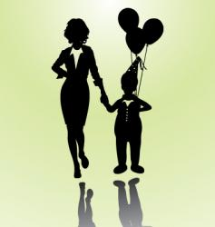 woman and boy vector image vector image