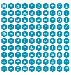 100 childrens park icons sapphirine violet vector image vector image