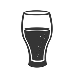 Icon beer drink liquid isolated vector
