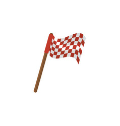 Sport flag isolated icon vector