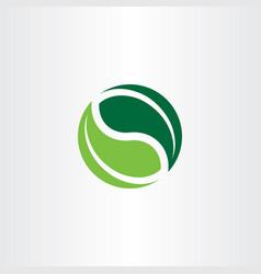 Bio logo element green leaves icon vector