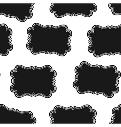 Western labels seamless pattern vector