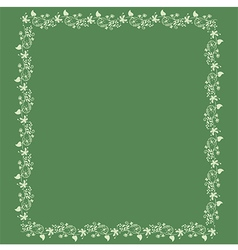 Frame floral background vector