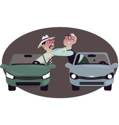 Road rage vector image
