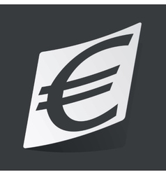 Monochrome euro sticker vector