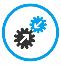 Integration rounded icon vector
