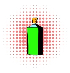 Bottle of cologne icon comics style vector