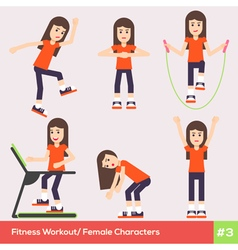 Exercises carachters women 3 vector