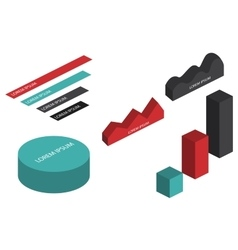 Flat 3d isometric infographic vector