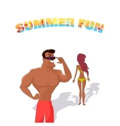 Summer fun concept vector