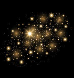 Abstract galaxy gold vector
