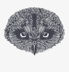 abstract owl vector image vector image