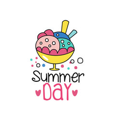 abstract summer badge or label with colorful ice vector image vector image