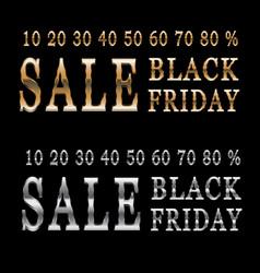 background banner black friday sale vector image