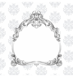 Baroque royal frame vector
