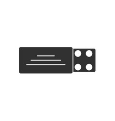 Black icon on white background pill pack vector