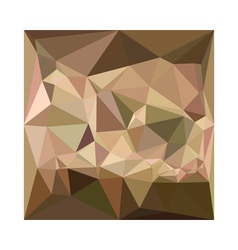 Burlywood abstract low polygon background vector