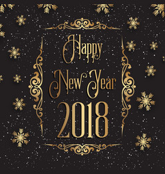 decorative happy new year background vector image vector image