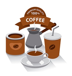 different kind of coffee vector image